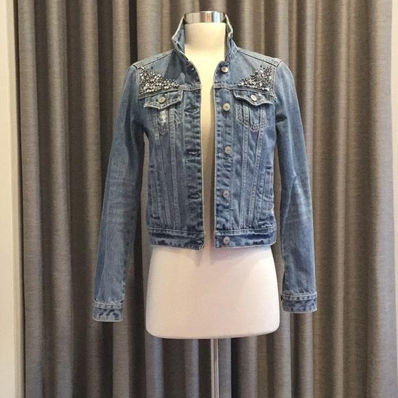Abercrombie & Fitch Jackets & Blazers - 🔹ABERCROMBIE & FITCH Embellished Denim Jacket